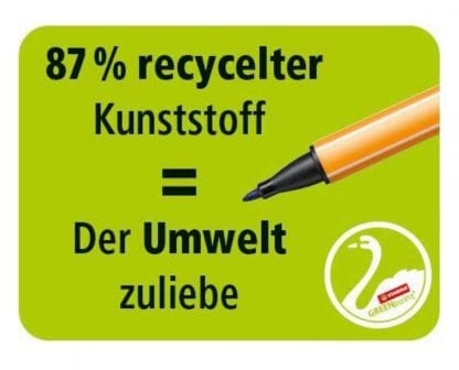 DesignThinking Stift aus 87% recyceltem Material