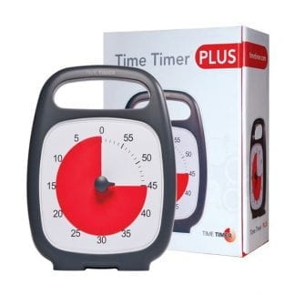 Der Time Timer in der Plus-Variante mit Griff