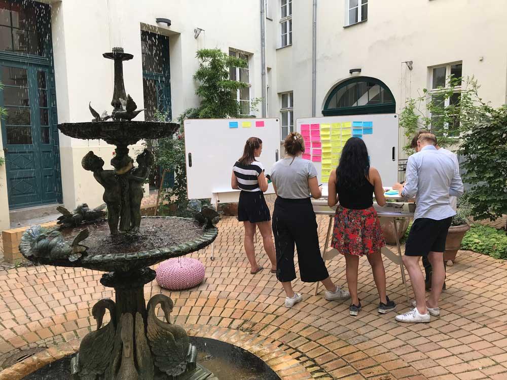 Kreativ Workshop im Freien