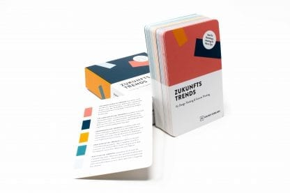 Design Thinking Zukunftstrends Karten in Karton