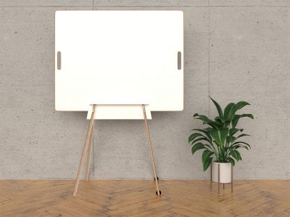 Design Whiteboard in einem Ständer