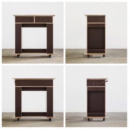 Der Kekendo2 DesignThinking Tisch aus vier verschiedenen Perspektiven