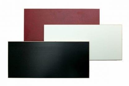 Farbvarianten der Kekendo Workshoptisch Reihe: Rot, weiß, schwarz