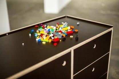 Lego als Prototpying Material auf einem Kekendo 3 Teamtisch