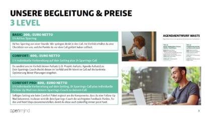 drei Variaten des Agenda Sparrings für Workshops