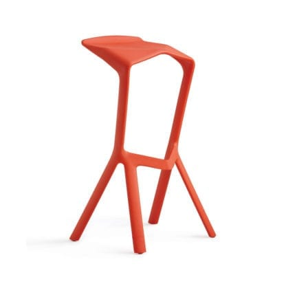 Stuhl für agiles Arbeiten in rot